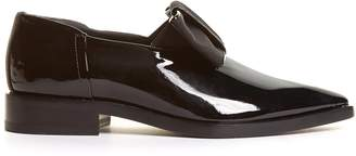 LANVIN Grosgrain-bow patent-leather loafers $911 thestylecure.com