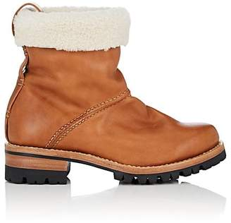 Feit Women's Shearling-Lined Leather Ankle Boots