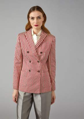 Giorgio Armani Striped Canvas Jacket