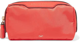 Anya Hindmarch Girlie Stuff Leather-trimmed Shell Cosmetics Case - Papaya