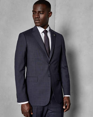 Ted Baker COMTOJ Checked wool suit jacket