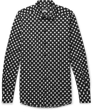 Dolce & Gabbana Slim-Fit Polka-Dot Stretch-Cotton Poplin Shirt