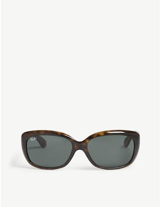 ddcb47d36b8 Ray-Ban RB4101 Jackie Ohh rectangle-frame sunglasses