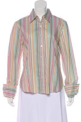 Lafayette 148 Striped Long Sleeve Top