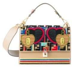 Fendi Tappetino Kan I Embroidered Shoulder Bag