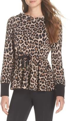 Kate Spade leopard ruffle hoodie