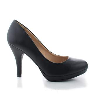 City Classified Women's Classic Dress Pump W Extra Cushioned In Sole Round Toe & Platform