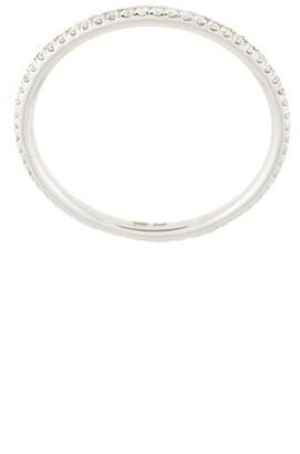 Natalie Marie 14kt white gold Queenie full diamond ring