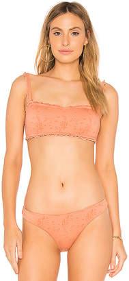 Peony Swimwear Ruffle Crop Bikini Top