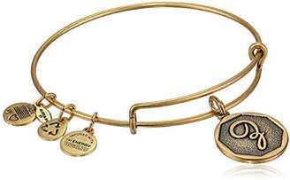 Alex and Ani Rafaelian Gold-Tone Initial Z Expandable Wire Bangle Bracelet