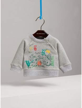 Burberry Adventure Motif Cotton Jersey Sweatshirt