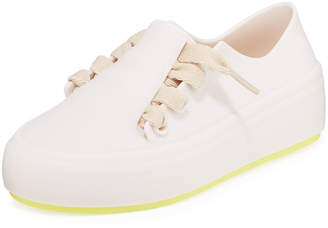 Mini Melissa Ultisa Covered Lace-Up Sneakers, Size Kids