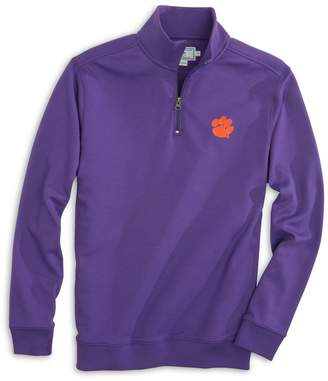 Southern Tide Gameday Skipjack 1/4 Zip Pullover - Clemson University