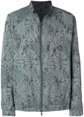 Etro tone-on-tone leaf print jacket