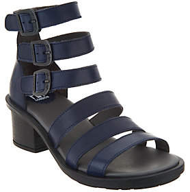 Fly London Leather Multi Strap Heeled Sandals -Ceda
