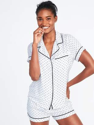 Old Navy Soft-Twill Button-Front Pajama Top