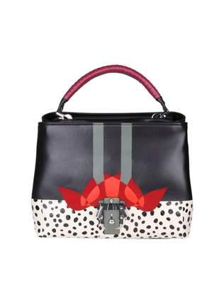 Paula Cademartori mae Handbag In Leather With Multicolor Print