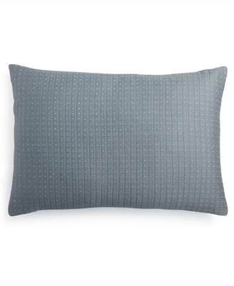 "Calvin Klein Quilted Metallic Dash 15"" x 22"" Decorative Pillow Bedding"