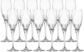 Mikasa Set of 12 Crystal Champagne Flute Glasses