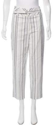 Robert Rodriguez Striped High-Rise Cropped Pants w/ Tags
