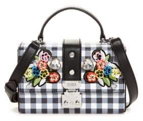 GUESS Britta Gingham Mini Crossbody Bag