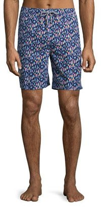 Peter Millar Bob's Buoys Swim Trunks, Blue $85 thestylecure.com