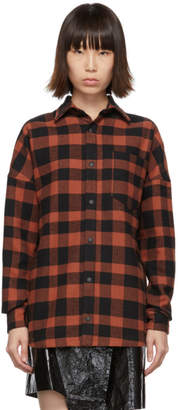Palm Angels Red Check Logo Shirt