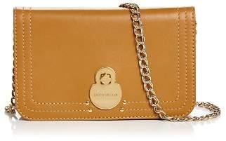 Longchamp Cavalcade Wallet on Chain Leather Crossbody