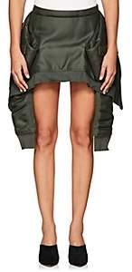 Helmut Lang Women's Bomber-Jacket Miniskirt-Olive