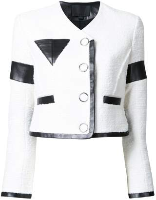 Alexander Wang cropped jacket with triangle chest pocket