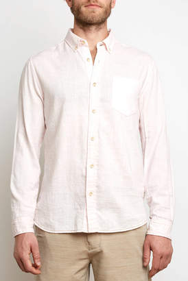 Surfside Supply Texture Long Sleeve Woven Button Down