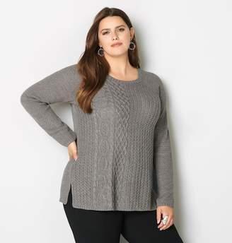 Avenue Mixed Stitch Knit Sweater