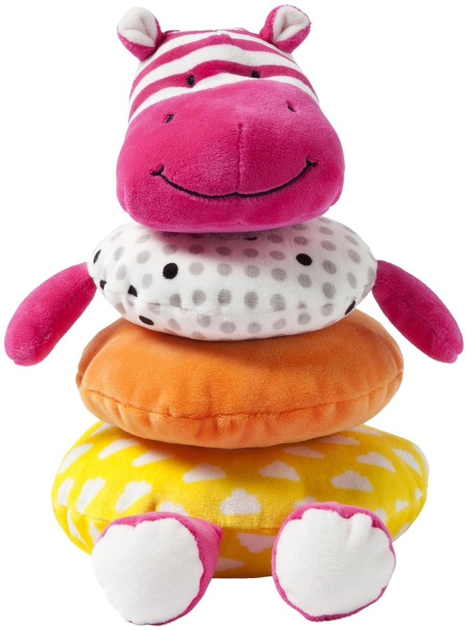 giggle Soft Pink Hippo Stacker