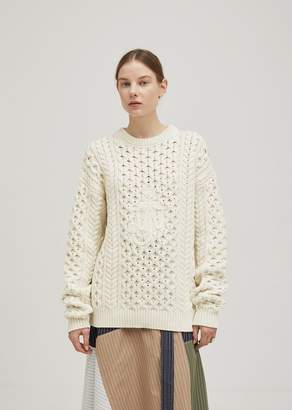 J.W.Anderson Cable Knit Sweater Off White