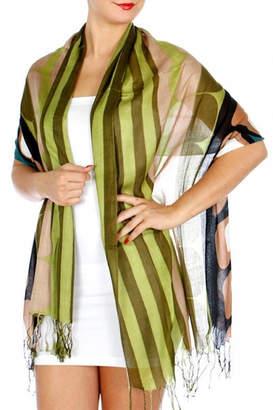 Fashion Unic Circles And Stripes Scarf