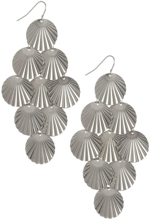 Fan Disc Chandelier Earring