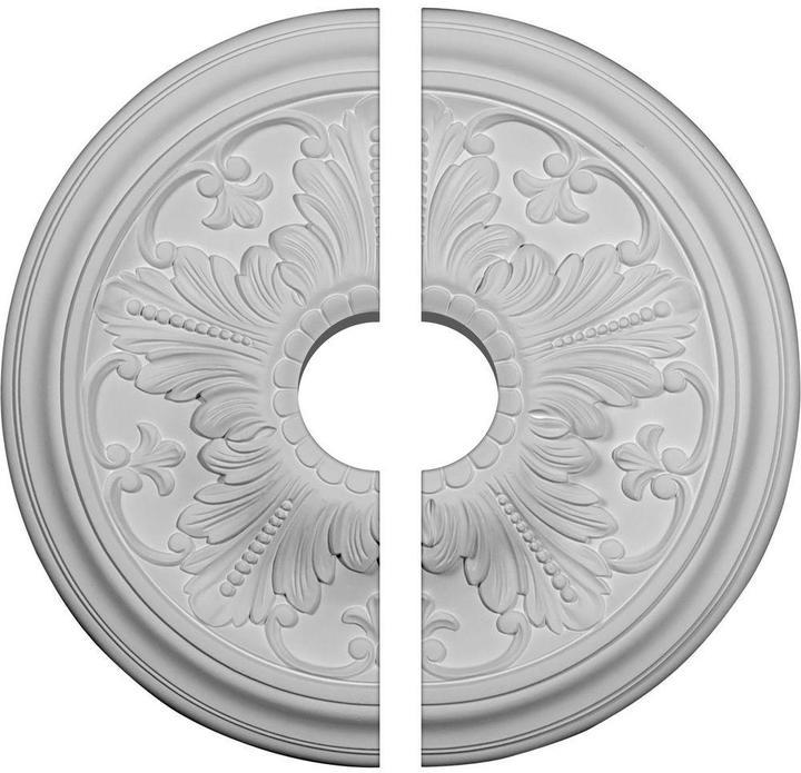 Ekena Millwork 16-7/8 in. O.D. x 3-1/2 in. I.D. x 5/8 in. P Vienna Ceiling Medallion (2-Piece)