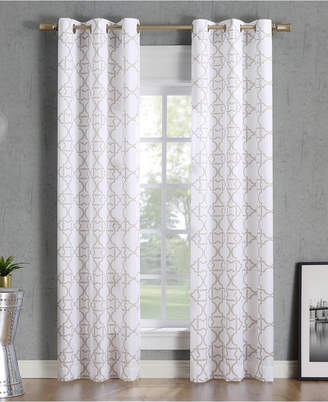 "Lichtenberg No. 918 Barkley Trellis Semi-Sheer Grommet Curtain Panel, 40"" W x 95"" L"