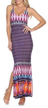 White Mark Women's Aztec Printed Nila Maxi Dress