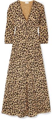 RIXO London - Katie Leopard-print Silk-crepe Dress - Leopard print