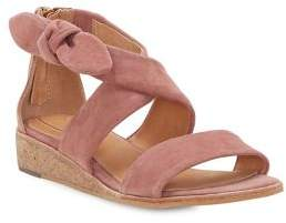 Corso Como CC Rasque Demi-Wedge Suede Sandals