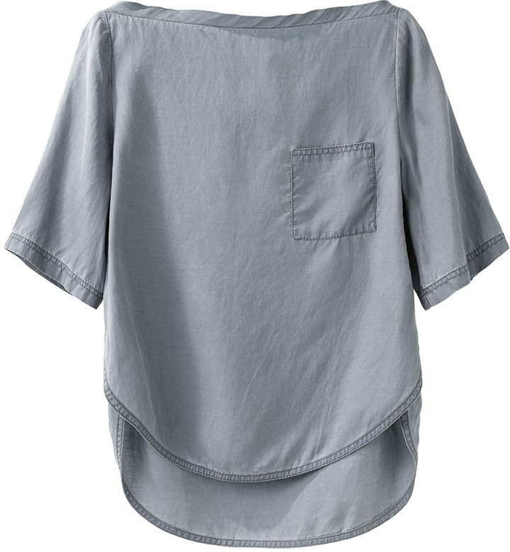 3.1 Phillip Lim / t-shirt w/ lapeled hem