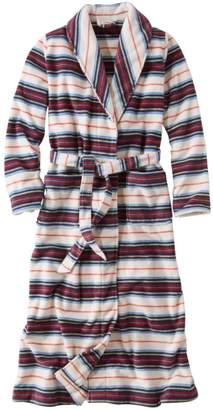 L.L. Bean L.L.Bean Women's Winter Fleece Robe, Wrap-Front Print