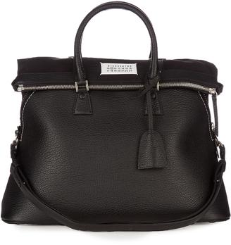 MAISON MARGIELA 5ac grained-leather tote $2,028 thestylecure.com
