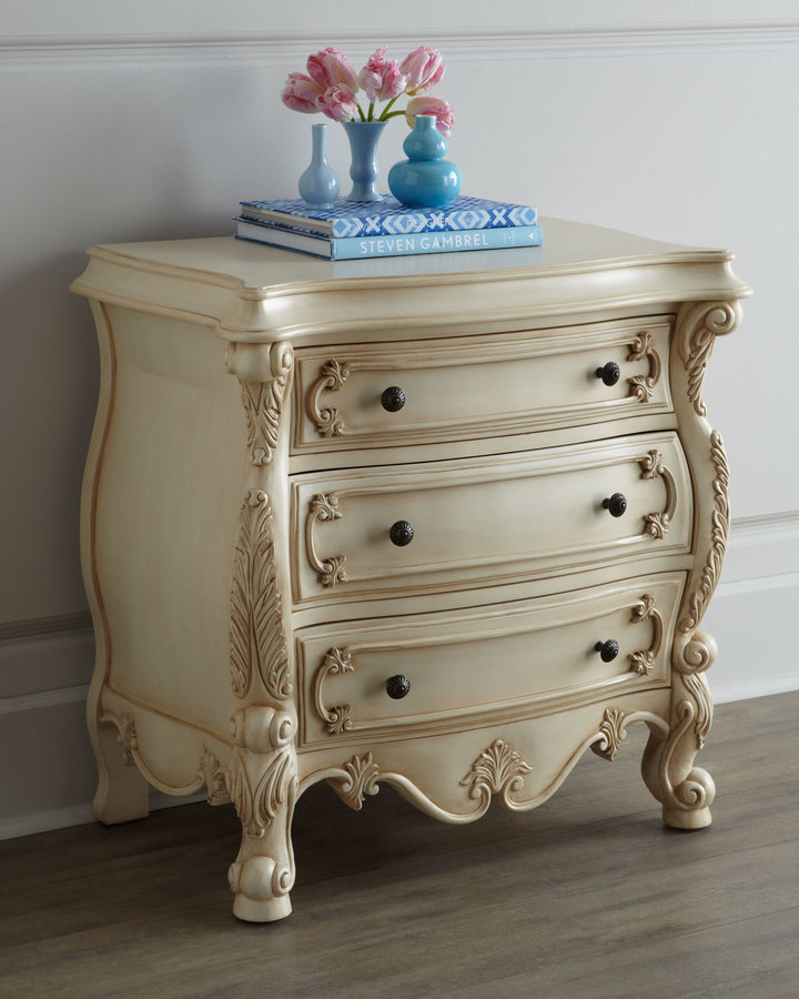 Nicolette Cream Nightstand 3