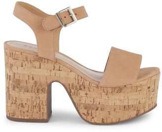 Schutz Cork Platform Sandals