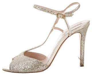 LK Bennett Giuseppe Zanotti Metallic Leather Sandals