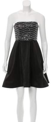Alice + Olivia Embellished Silk Dress