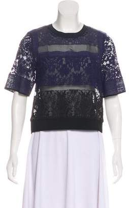 Rebecca Taylor Silk and Lace Top