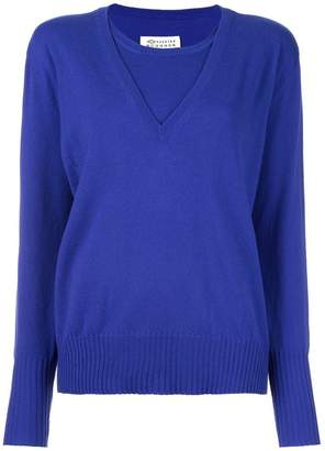 Maison Margiela cashmere layered pullover sweater